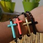 Fun Black Bracelets With B..